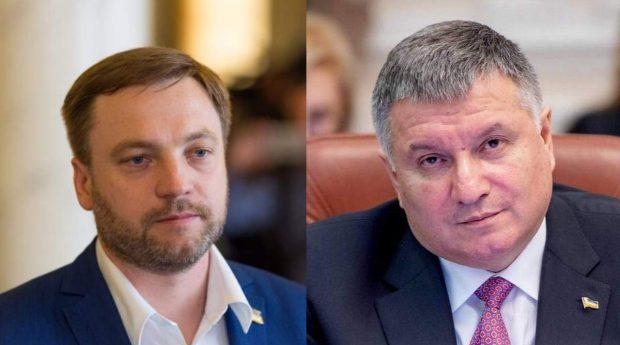 Денис Монастирський та Арсен Аваков